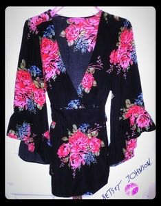 Betsey Johnson Floral Tunic Size XL!